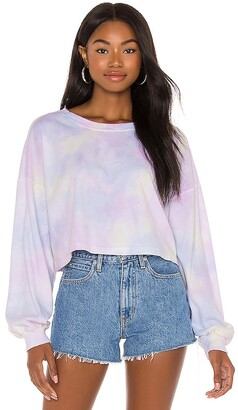 Lovers + Friends Tie Dye Long Sleeve Crop