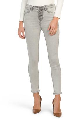 Juniors High Rise Clean Hem Jeans