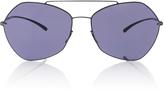 Mykita Black Aviator Sunglasses