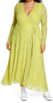 AFRM Wyatt Long Sleeve Wrap Dress