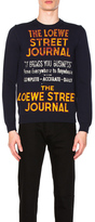 Loewe Street Journal Sweater in Blue.