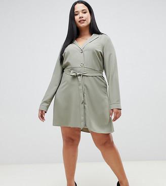 Asos DESIGN Curve mini shirt dress with buttons