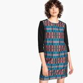 La Redoute Collections Checked Jacquard Shift Dress