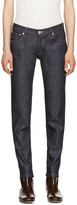 A.P.C. Indigo Cropped Skinny Jeans
