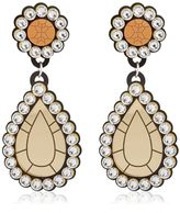 "Yazbukey ""Gold Diamonds"" Drop Earrings"