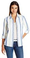 Splendid Women's Capri Novelty Print Pocket Shirt