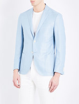 Corneliani Academy tailored-fit notch lapel silk and wool-blend jacket