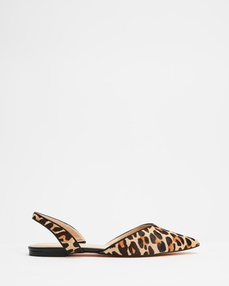 Atmos & Here Atmos&Here - Women's Brown Sandals - Leopard Slingback Flats - Size 6 at The Iconic
