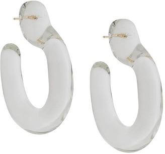Annika Inez Glassy Hoops large earrings