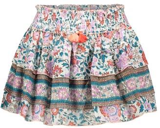 Poupette St Barth Exclusive to Mytheresa Ariel floral cotton miniskirt
