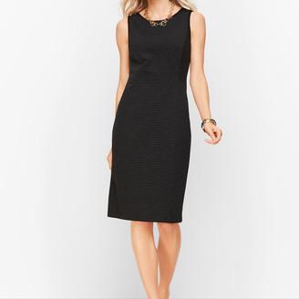 Talbots Italian Luxe Knit Sheath Dress - Stripe