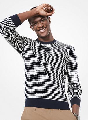Michael Kors Zig-Zag Stripe Cotton-and-Wool Sweater