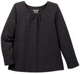 Joe Fresh Mixed Picot Long Sleeve Tee (Toddler & Little Girls)