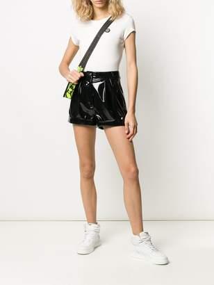Philipp Plein coated high-waste shorts