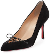 Christian Louboutin Scalopump Suede Red Sole Pump