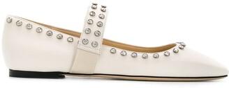 Jimmy Choo Minette stud-embellished ballerina shoes