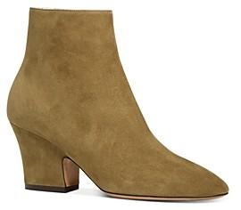 Salvatore Ferragamo Women's Shirin Block Heel Ankle Booties