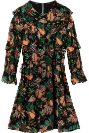 Maison Scotch Jungle Print Dress - 6 - Black/Green/Orange