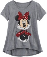 Disney Disney's Minnie Mouse Girls 7-16 Glitter Sketch Graphic Tee