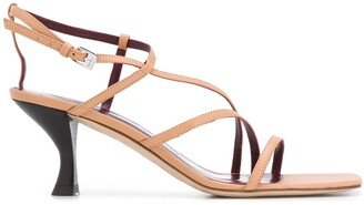 STAUD Square Front Heeled Sandals