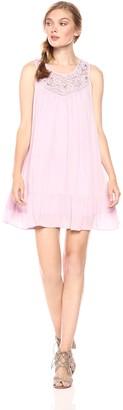 En Creme Women's Lace Babydoll Dress