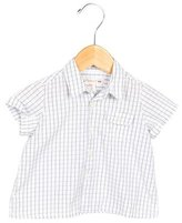 Bonpoint Girls' Checkered Button-Up Top