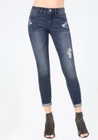 Bebe Torn Heartbreaker Jeans