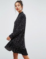 Paul Smith Dress with Frill in Dot Print