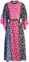 DURO OLOWU Nina contrast-panel kimono-sleeved crepe dress