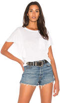 Splendid Heavy Slub Ruffle Tee in White. - size L (also in M,XS)