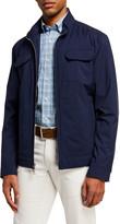 Peter Millar Men's All-Weather Flex Zip-Front Jacket