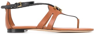 Tod's Logo Plaque Thong Sandals