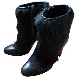 Michel Vivien Black Leather Ankle boots