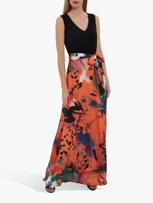 Gina Bacconi Ravenna Floral Print Skirt Maxi Dress, Multi