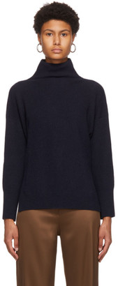 Nanushka Navy Recycled Cashmere Turtleneck