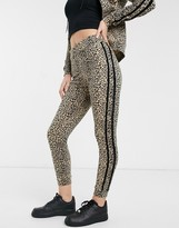 Parisian lounge suit skinny sweatpants with glitter taping