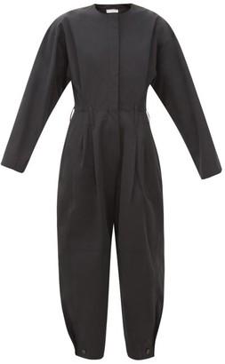 Givenchy Long-sleeve Taffeta Jumpsuit - Womens - Black