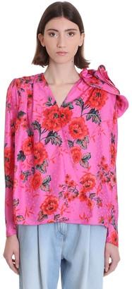 Magda Butrym Bolzano Blouse In Rose-pink Silk