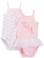Absorba Pink Butterfly Tank Bodysuits - Pack of 2 (Baby Girls)