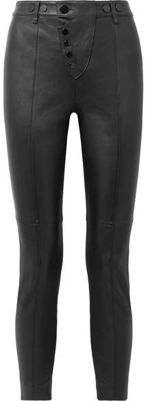 Alexander Wang Stretch-leather Leggings - Black