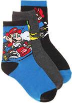High Point Design Mario Kart Toddler & Youth Crew Socks - 3 Pack - Boy's