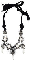 Lanvin Crystal & Pearl Bead Statement Necklace