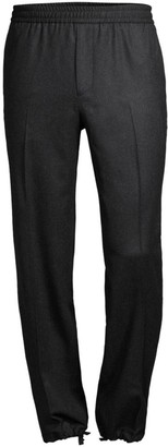 Salvatore Ferragamo Cinched Ankle Virgin Wool Joggers