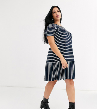 Junarose stripe smock dress