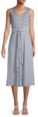 Max Studio Striped Sleeveless Dress