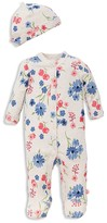 Offspring Girls' Mixed Bouquet Footie & Hat Set - Baby