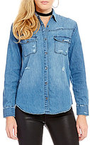 Joe's Jeans Melani Destructed Denim Top