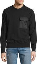Rag & Bone Aviator Chest Pocket Sweatshirt, Black
