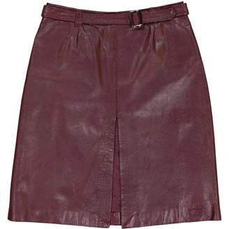 N. Non Signé / Unsigned Non Signe / Unsigned \N Burgundy Leather Skirts