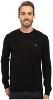Lacoste Segment 1 Cotton Jersey Crew Neck Sweater